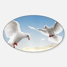 White Doves In The Sky Decal