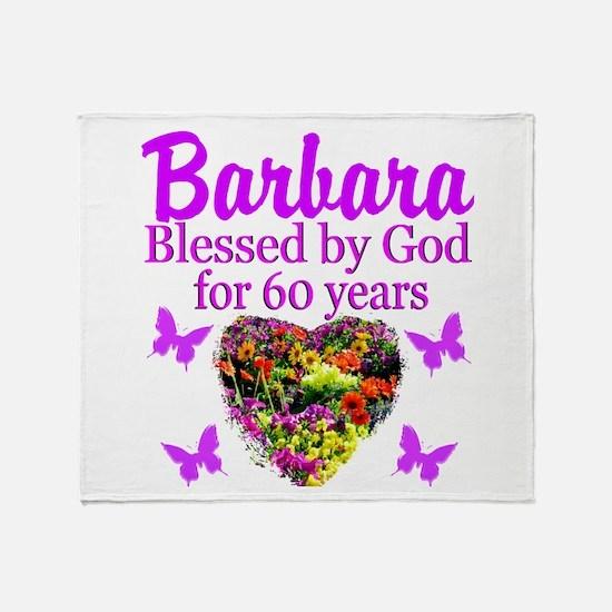 PRAYING 60 YR OLD Throw Blanket