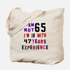 65 Birthday Designs Tote Bag