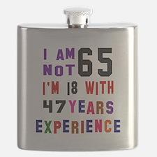65 Birthday Designs Flask