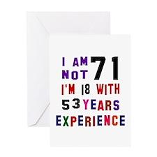 71 Birthday Designs Greeting Card