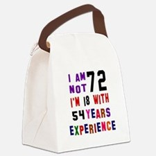 72 Birthday Designs Canvas Lunch Bag