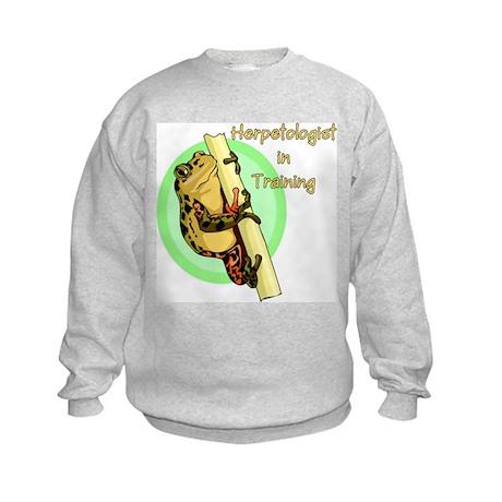 Herpetologist in Training Kids Sweatshirt