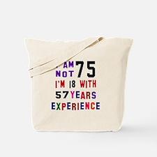 75 Birthday Designs Tote Bag