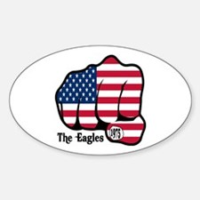USA Fist 1975 Oval Decal