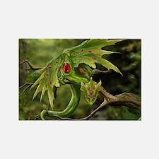 Ruby Leaf Dragon Magnets