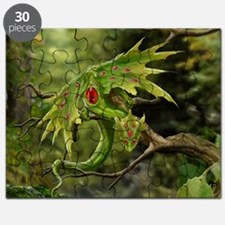 Ruby Birthstone Leaf Dragon Puzzle