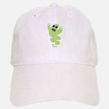 Green Ghost Baseball Baseball Cap