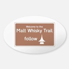 Malt Whisky Trail, Scotland, UK Sticker (Oval)