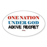 One Nation Above Regret Oval Sticker