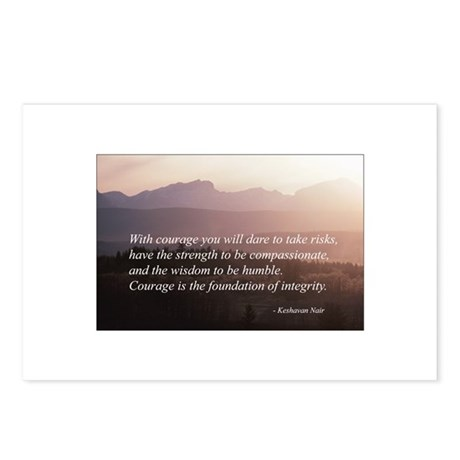 Integrity. Compassion, Courag Postcards (Package o