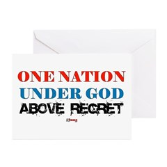 One Nation Above Regret Greeting Cards (Package of