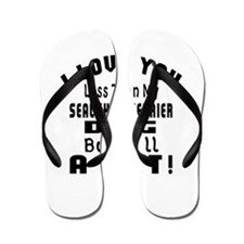 Sealyham Terrier dog designs Flip Flops
