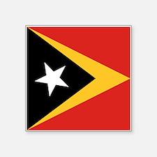 """Timor-Leste Flag Square Sticker 3"""" x 3"""""""