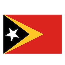 Timor-Leste Flag Postcards (Package of 8)