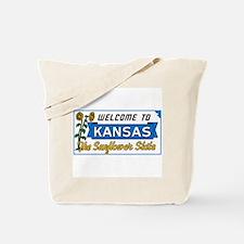 Welcome to Kansas Vintage 50s - USA Tote Bag