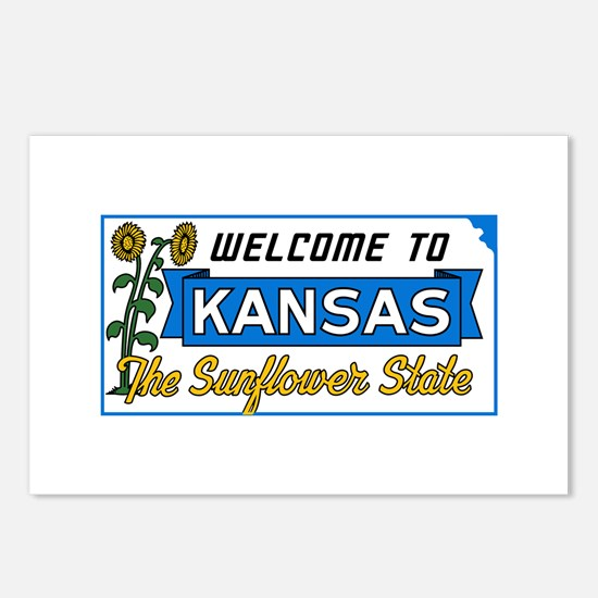 Welcome to Kansas Vintage Postcards (Package of 8)