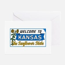 Welcome to Kansas Vintag Greeting Cards (Pk of 10)