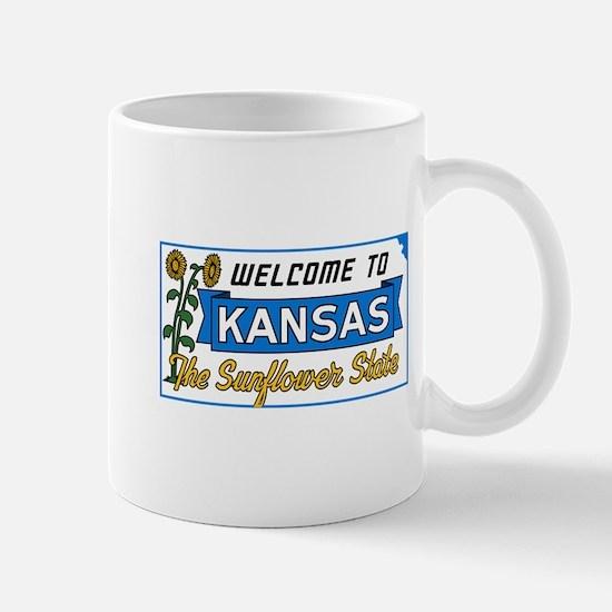 Welcome to Kansas Vintage 50s - USA Mug