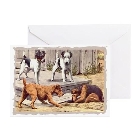 Fox, Irish & Welsh Terriers Vintage Greeting Cards