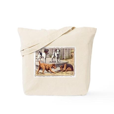 Fox, Irish & Welsh Terriers Vintage Tote Bag