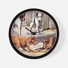 Fox, Irish & Welsh Terriers Vintage Wall Clock