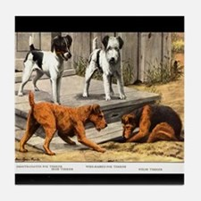 Fox, Irish & Welsh Terriers Vintage Tile Coaster