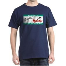 Welcome to Beautiful Maine Vintage 80 T-Shirt