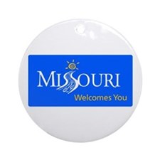 Missouri Welcomes You - USA Round Ornament