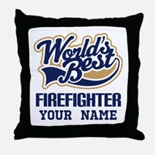 Firefighter Personalized Gift Throw Pillow