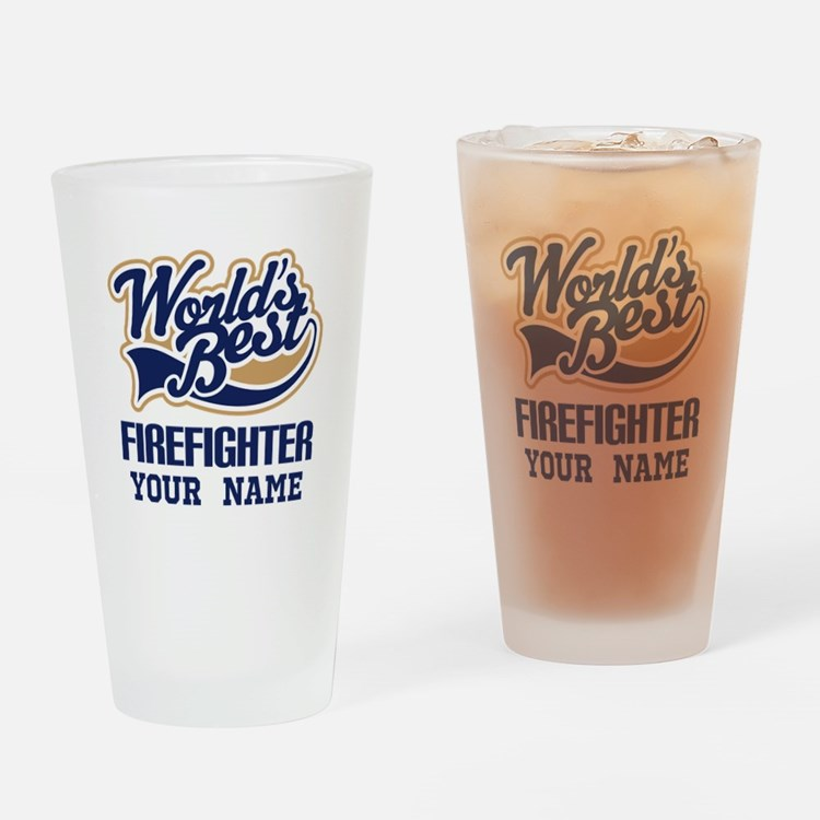 Firefighter Personalized Gift Drinking Glass