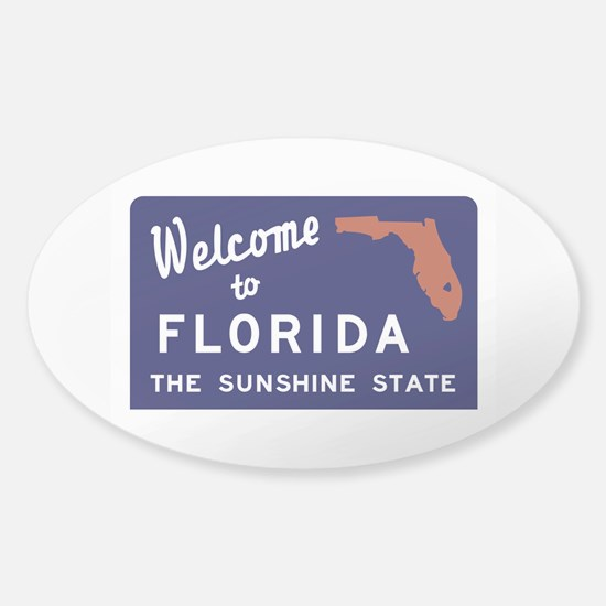Welcome to Florida Vintage 70s - US Sticker (Oval)