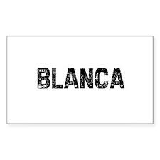 Blanca Rectangle Decal