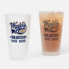 Volunteer Personalized Gift Drinking Glass