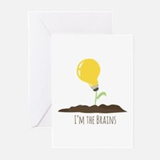 Im The Brains Greeting Cards