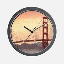 Golden Gate Bridge Inspiration Wall Clock