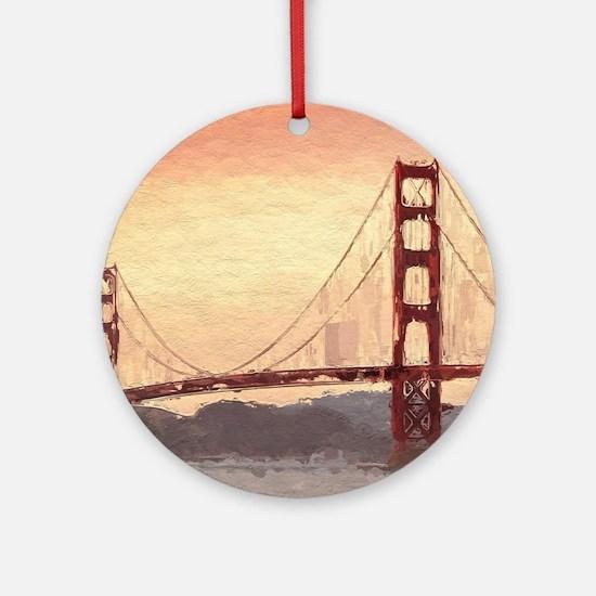 Golden Gate Bridge Inspiration Round Ornament