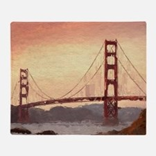 Golden Gate Bridge Inspiration Throw Blanket