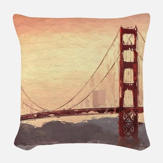 Golden Gate Bridge Inspiration Woven Throw Pillow