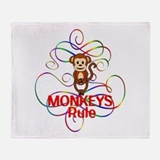 Monkeys Rule Throw Blanket