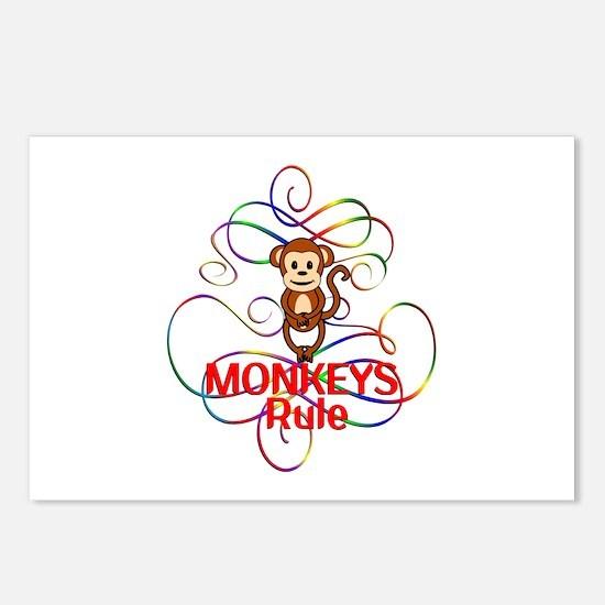 Monkeys Rule Postcards (Package of 8)