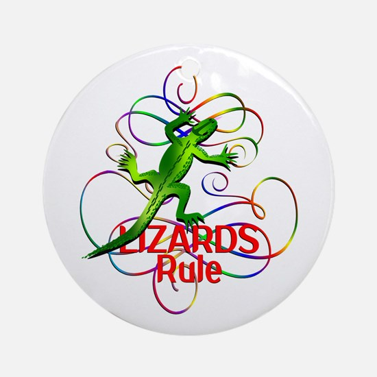Lizards Rule Round Ornament