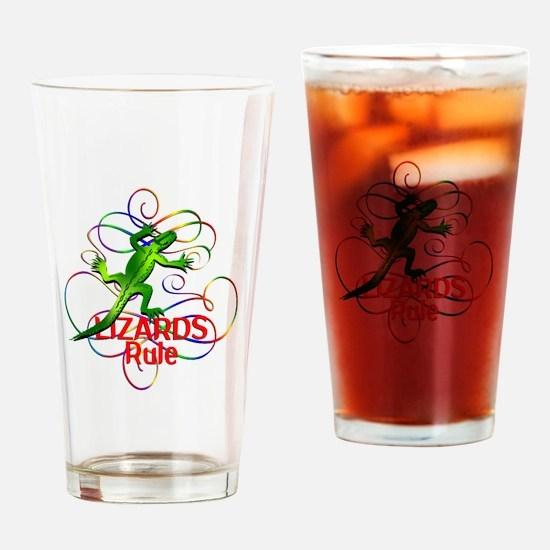 Lizards Rule Drinking Glass