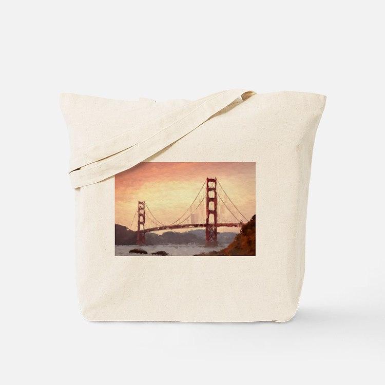 Golden Gate Bridge Inspiration Tote Bag