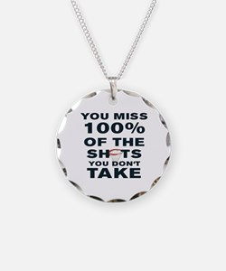YOU MISS 100% OF THE SHOTS Y Necklace