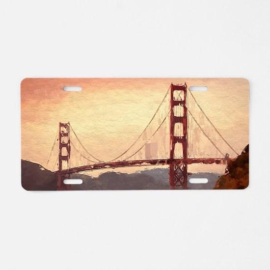 Golden Gate Bridge Inspirat Aluminum License Plate