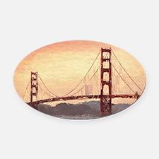 Golden Gate Bridge Inspiration Oval Car Magnet