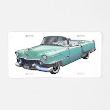 1954 Eldorado Aqua Aluminum License Plate