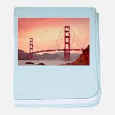 Golden Gate Bridge Inspiration baby blanket