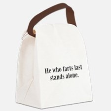 Stands Alone Canvas Lunch Bag